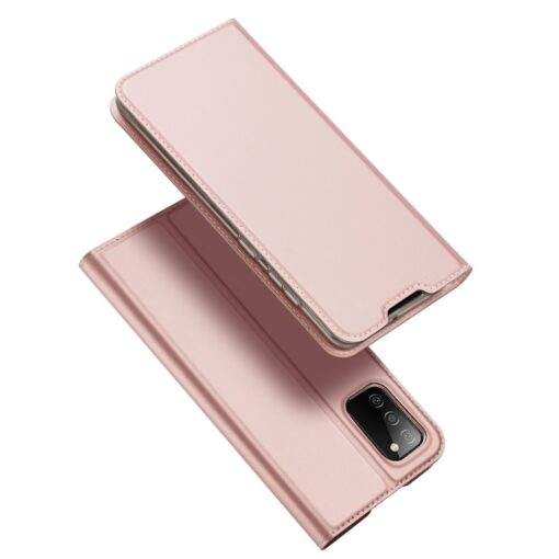 Samsung A02s kunstnahast kaaned DUX DUCIS Skin Pro Bookcase roosa