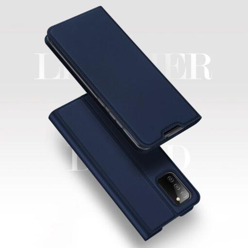 Samsung A02s kunstnahast kaaned DUX DUCIS Skin Pro Bookcase roosa 9
