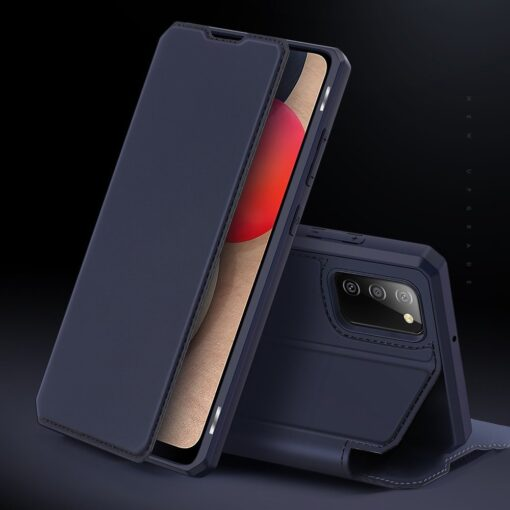Samsung A02s kunstnahast kaaned kaarditaskuga DUX DUCIS Skin X must 10
