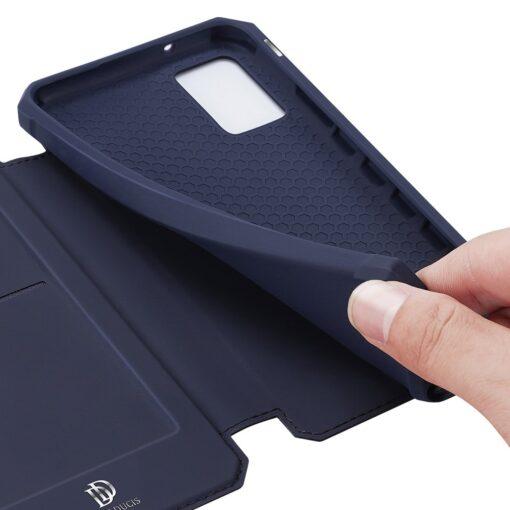 Samsung A02s kunstnahast kaaned kaarditaskuga DUX DUCIS Skin X must 19