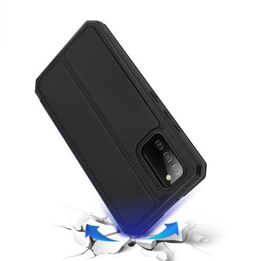Samsung A02s kunstnahast kaaned kaarditaskuga DUX DUCIS Skin X must 3