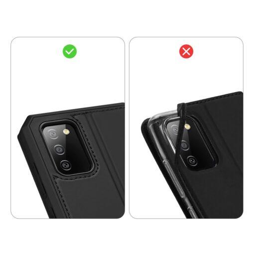 Samsung A02s kunstnahast kaaned kaarditaskuga DUX DUCIS Skin X must 8