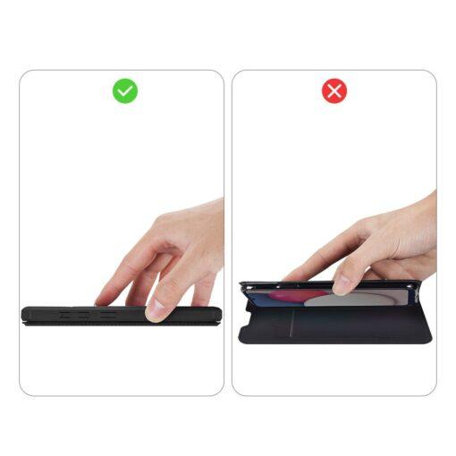 Samsung A02s kunstnahast kaaned kaarditaskuga DUX DUCIS Skin X must 9