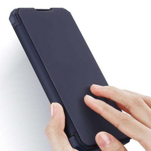 Samsung A02s kunstnahast kaaned kaarditaskuga DUX DUCIS Skin X sinine 13