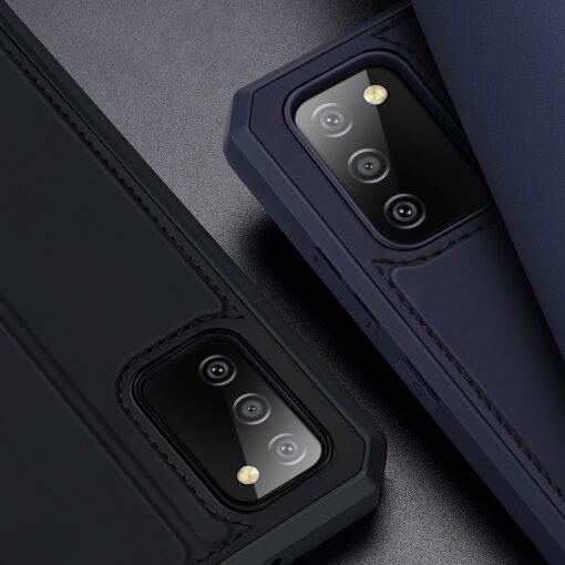 Samsung A02s kunstnahast kaaned kaarditaskuga DUX DUCIS Skin X sinine 18