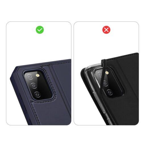 Samsung A02s kunstnahast kaaned kaarditaskuga DUX DUCIS Skin X sinine 8
