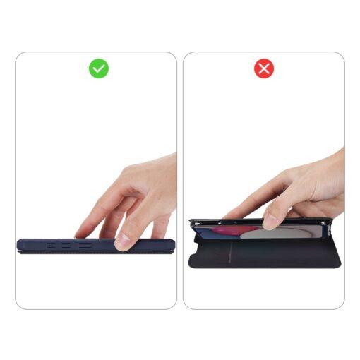 Samsung A02s kunstnahast kaaned kaarditaskuga DUX DUCIS Skin X sinine 9