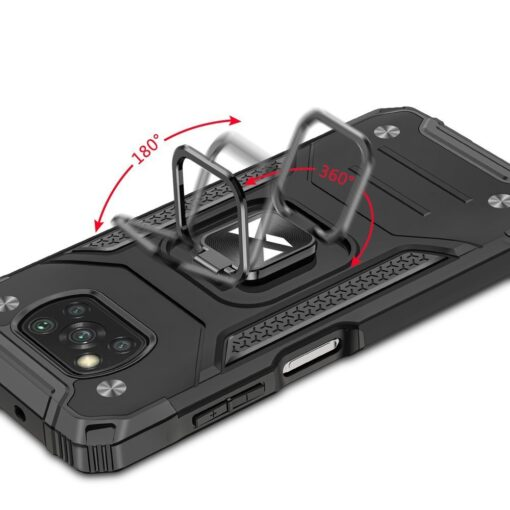 Samsung A02s tugev umbris Ring Armor plastikust taguse ja silikoonist nurkadega hobe 4