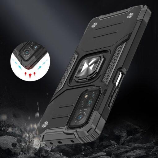 Samsung A02s tugev umbris Ring Armor plastikust taguse ja silikoonist nurkadega punane 6