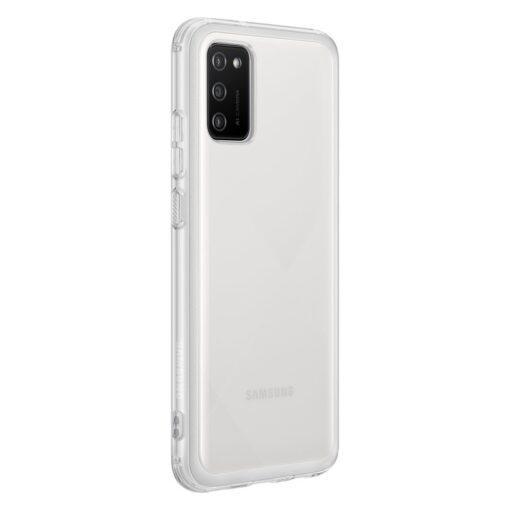 Samsung A02s umbris Soft Clear Cover silikoonist raamiga labipaistev EF QA026TTEGEU 1