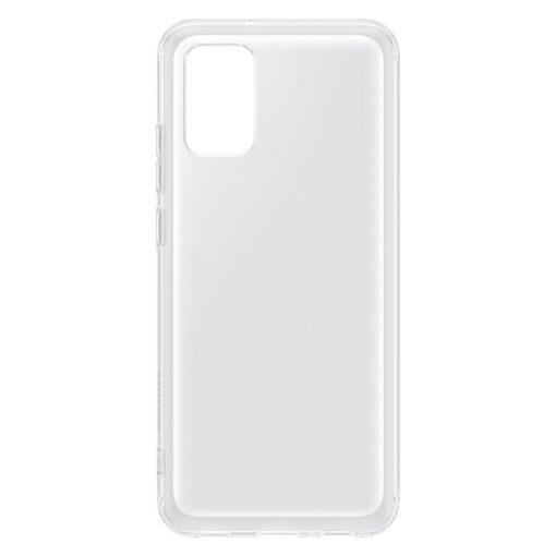 Samsung A02s umbris Soft Clear Cover silikoonist raamiga labipaistev EF QA026TTEGEU 3