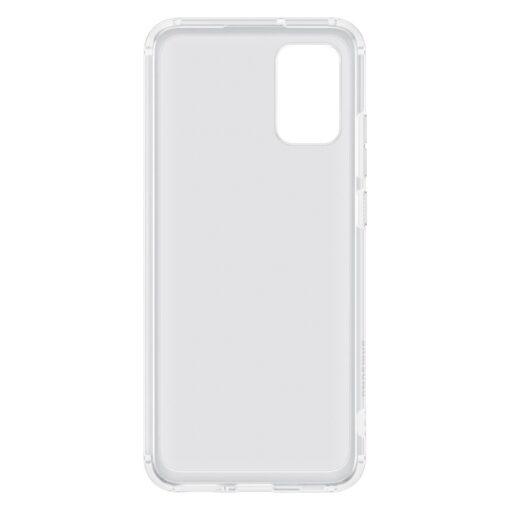 Samsung A02s umbris Soft Clear Cover silikoonist raamiga labipaistev EF QA026TTEGEU 4