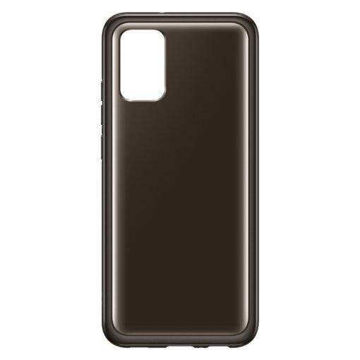 Samsung A02s umbris Soft Clear Cover silikoonist raamiga must EF QA026TBEGEU 1