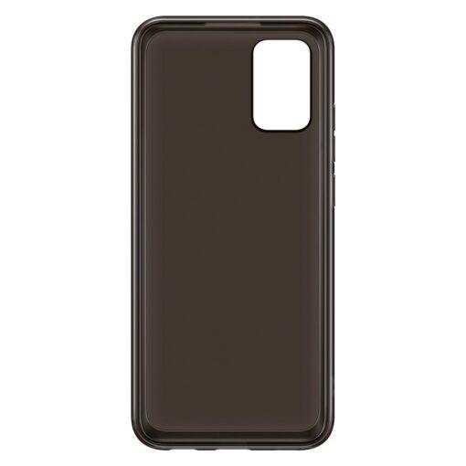 Samsung A02s umbris Soft Clear Cover silikoonist raamiga must EF QA026TBEGEU 2