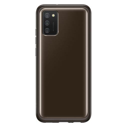 Samsung A02s umbris Soft Clear Cover silikoonist raamiga must EF QA026TBEGEU 3