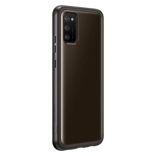 Samsung A02s umbris Soft Clear Cover silikoonist raamiga must EF QA026TBEGEU 4