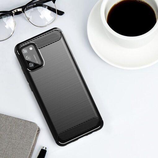 Samsung A02s umbris silikoonist Carbon must 1