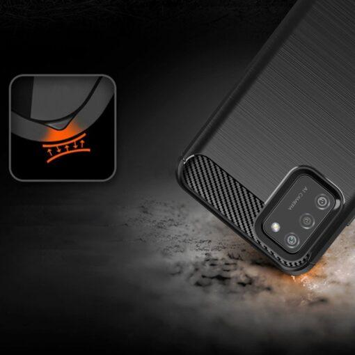 Samsung A02s umbris silikoonist Carbon must 2