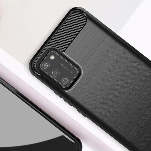 Samsung A02s umbris silikoonist Carbon must 4