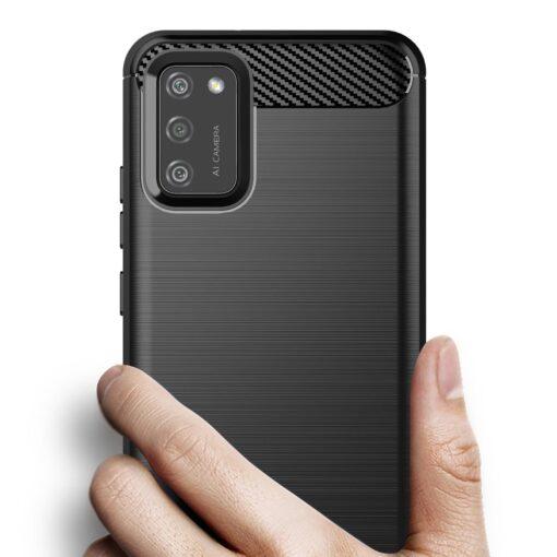 Samsung A02s umbris silikoonist Carbon must 6