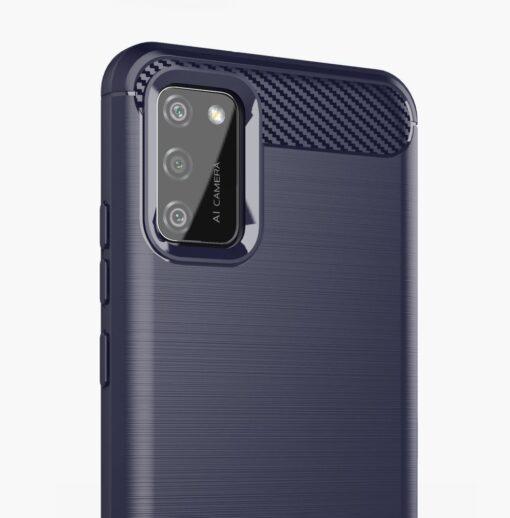 Samsung A02s umbris silikoonist Carbon sinine 3