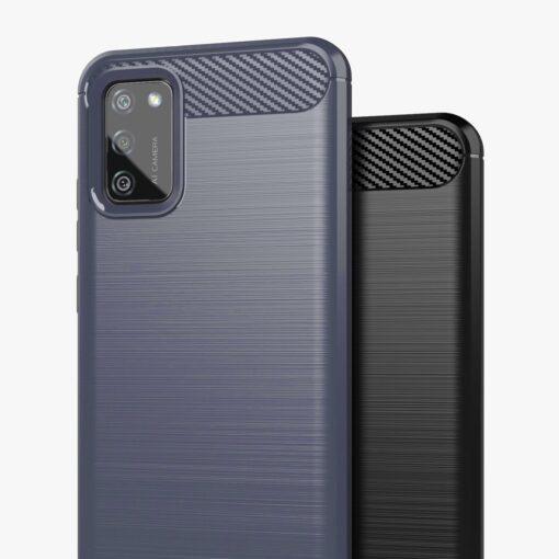 Samsung A02s umbris silikoonist Carbon sinine 4