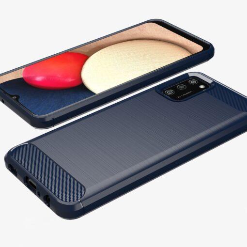 Samsung A02s umbris silikoonist Carbon sinine 5