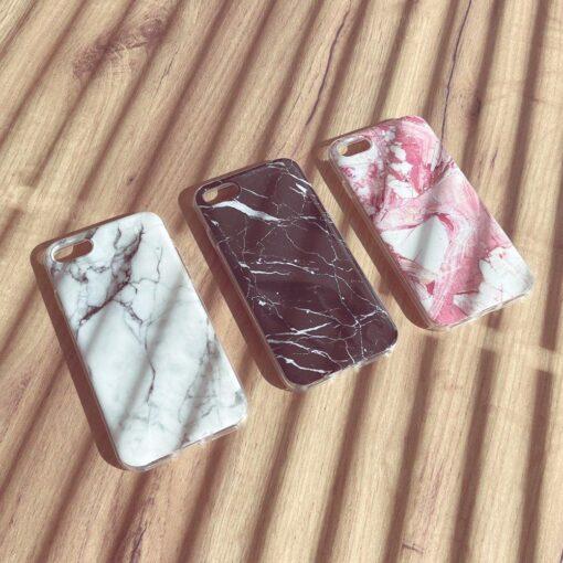 Samsung A02s umbris silikoonist marmori imitatsiooniga roosa 1