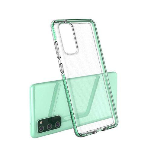 Samsung A02s umbris silikoonist varvilise raamiga heleroheline 3