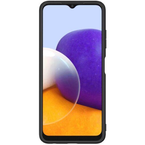 Samsung A22 5G Nillkin silikoonist ning nailoni tekstuuriga umbris must 1