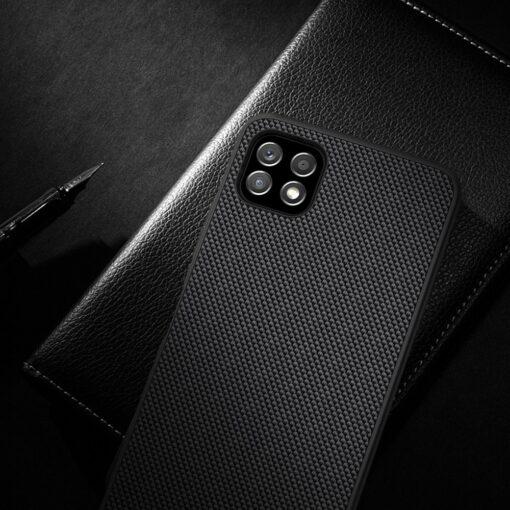 Samsung A22 5G Nillkin silikoonist ning nailoni tekstuuriga umbris must 13