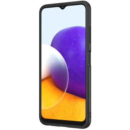 Samsung A22 5G Nillkin silikoonist ning nailoni tekstuuriga umbris must 3