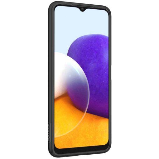 Samsung A22 5G Nillkin silikoonist ning nailoni tekstuuriga umbris must 4