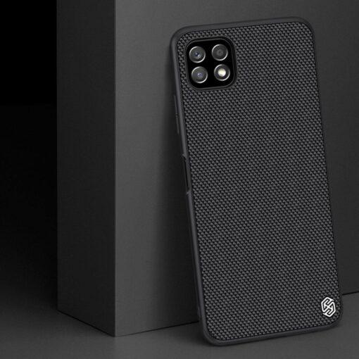 Samsung A22 5G Nillkin silikoonist ning nailoni tekstuuriga umbris must 5