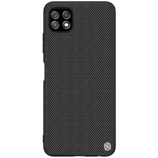Samsung A22 5G Nillkin silikoonist ning nailoni tekstuuriga umbris must