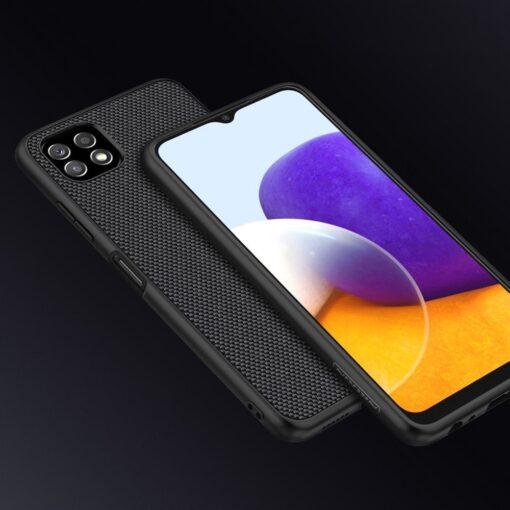 Samsung A22 5G Nillkin silikoonist ning nailoni tekstuuriga umbris must 7