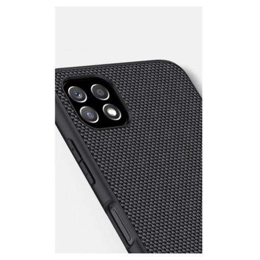 Samsung A22 5G Nillkin silikoonist ning nailoni tekstuuriga umbris must 8