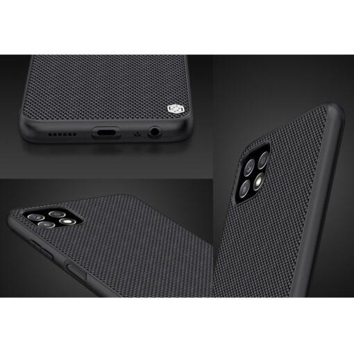 Samsung A22 5G Nillkin silikoonist ning nailoni tekstuuriga umbris must 9