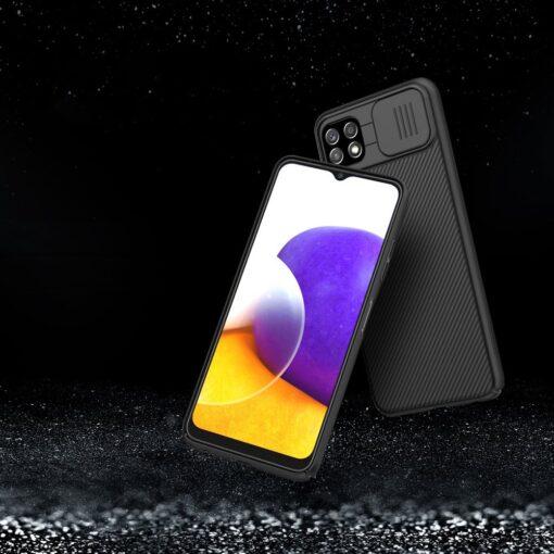 Samsung A22 5G umbris Nillkin Camshield plastikust must 11