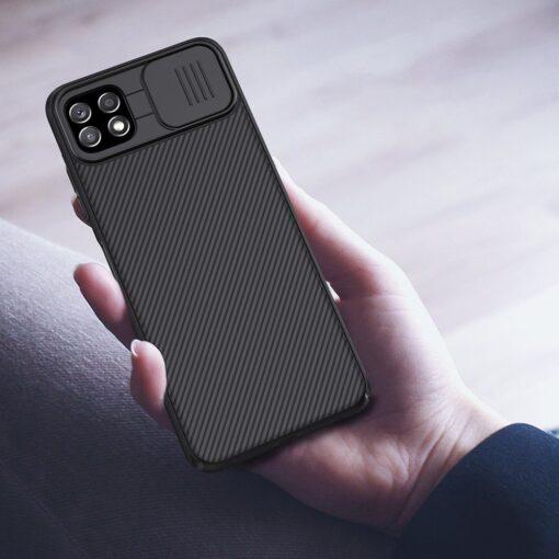 Samsung A22 5G umbris Nillkin Camshield plastikust must 8