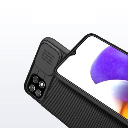 Samsung A22 5G umbris Nillkin Camshield plastikust must 9