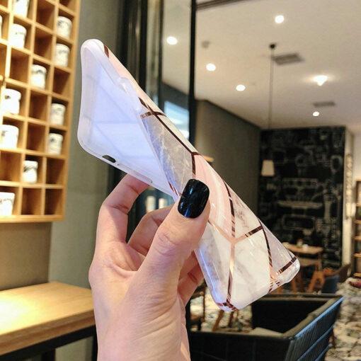 Samsung A5252s Marble umbris silikoonist roosa 2