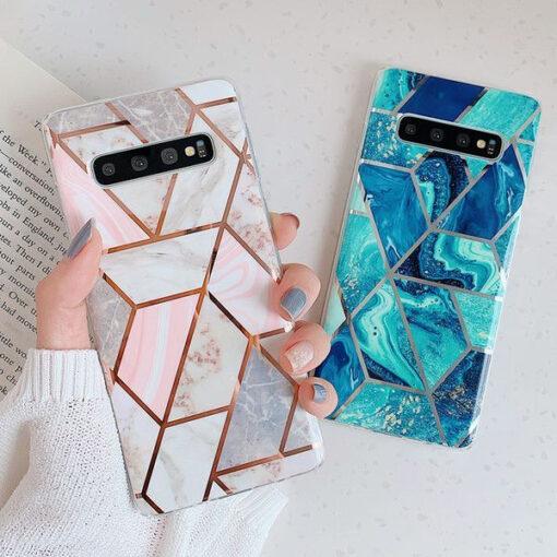 Samsung A5252s Marble umbris silikoonist roosa 3