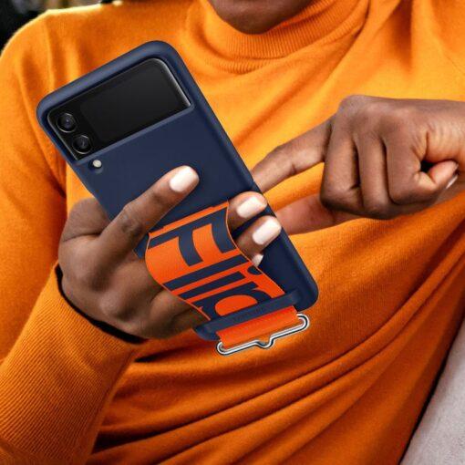 Samsung Galaxy Z Flip 3 5G silikoonumbris rihmaga sinine EF GF711TNEGWW 10