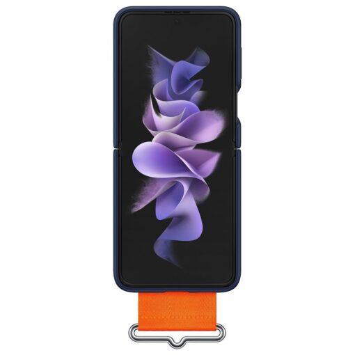 Samsung Galaxy Z Flip 3 5G silikoonumbris rihmaga sinine EF GF711TNEGWW 3