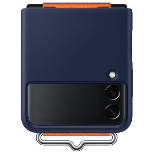 Samsung Galaxy Z Flip 3 5G silikoonumbris rihmaga sinine EF GF711TNEGWW 7