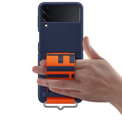 Samsung Galaxy Z Flip 3 5G silikoonumbris rihmaga sinine EF GF711TNEGWW 8