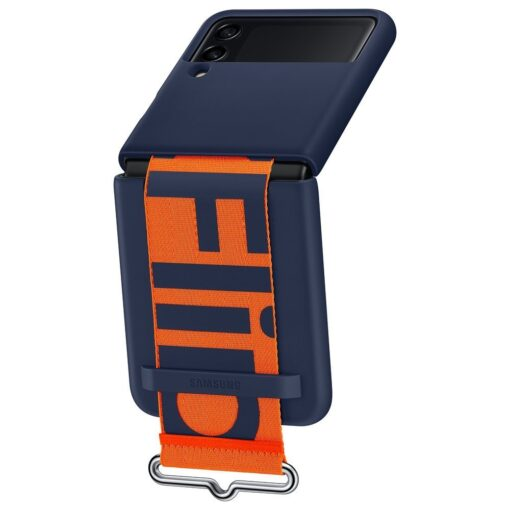 Samsung Galaxy Z Flip 3 5G silikoonumbris rihmaga sinine EF GF711TNEGWW 9