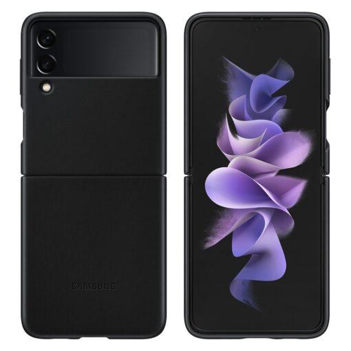 Samsung Galaxy Z Flip 3 5G umbris nahast must EF VF711LBEGWW