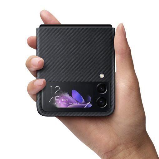 Samsung Galazy Z Flip 3 Aramid Cover kaaned must EF XF711SBEGWW 10